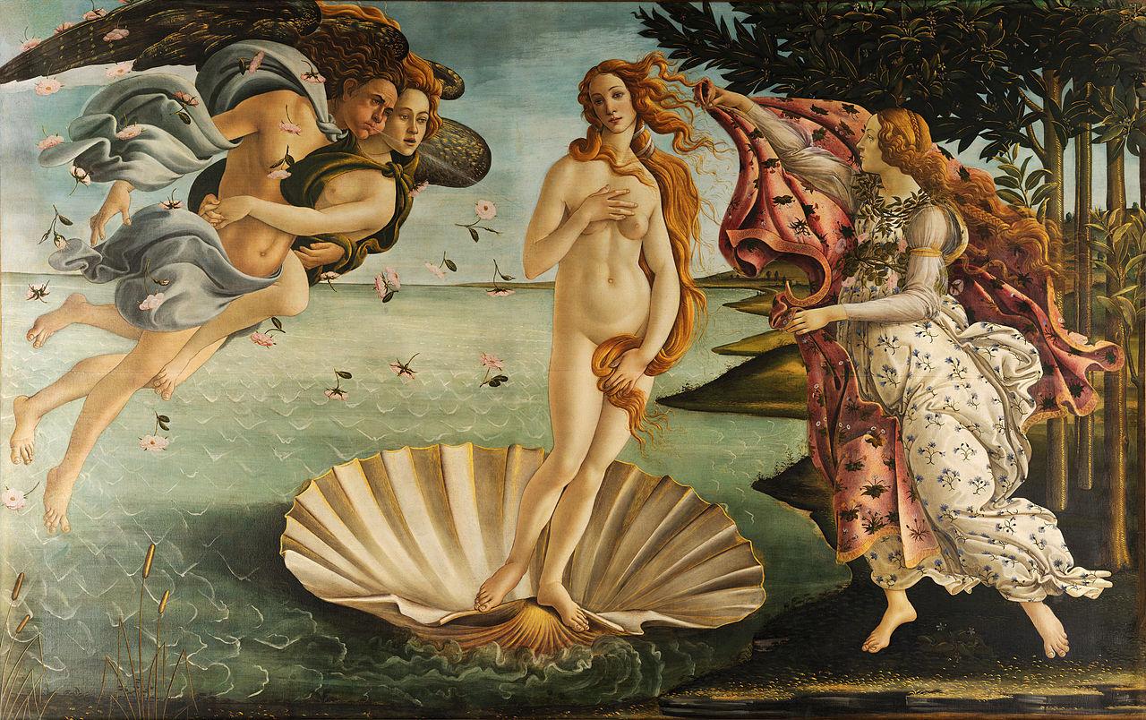 Nacimiento de Venus de Boticelli