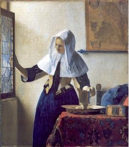Figura 1. Mujer con jarra de agua, Óleo sobre lienzo. Jan Vermeer, 1660.
