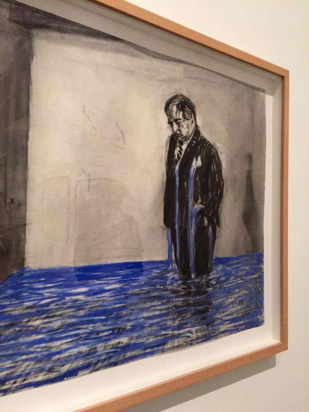 Dibujo para la película Estereoscopio, 1999. Carboncillo y pastel sobre papel. 113 x 137 cm. Colección Johannesburg Art Gallery.