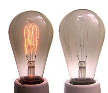 lampara incandescente