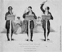 Caricatura de Carl Maria von Weber dirigiendo