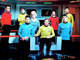 La tripulación oficial de Star Trek [1].