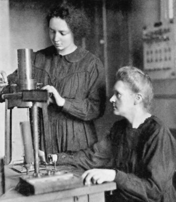 Irene y Marie Curie, 1925.