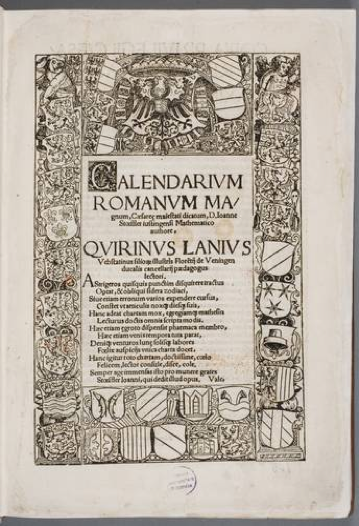 Figura 3. Los cabellos fueron encontrados en el libro 'Calendarium Romanum Magnum' de Johannes Stoeffler, de 1518, un manual que Copérnico utilizó durante toda su vida y que los suecos se llevaron durante las guerras polaco-suecas del siglo XVII.