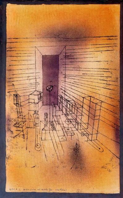 Habitación fantasma con puertas grandes, de 1925