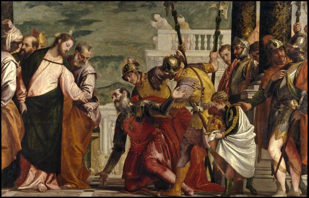 Jesús y el centurión. Paolo Caliari
