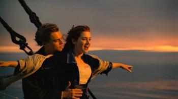 Escena del Titanic de James Cámeron