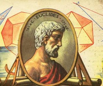 Eúclides, matemático griego, siendo considerado el padre de la Geometría.