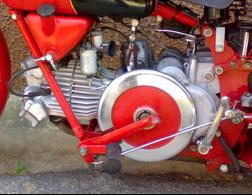 Volante de inercia de una motocicleta Guzzi