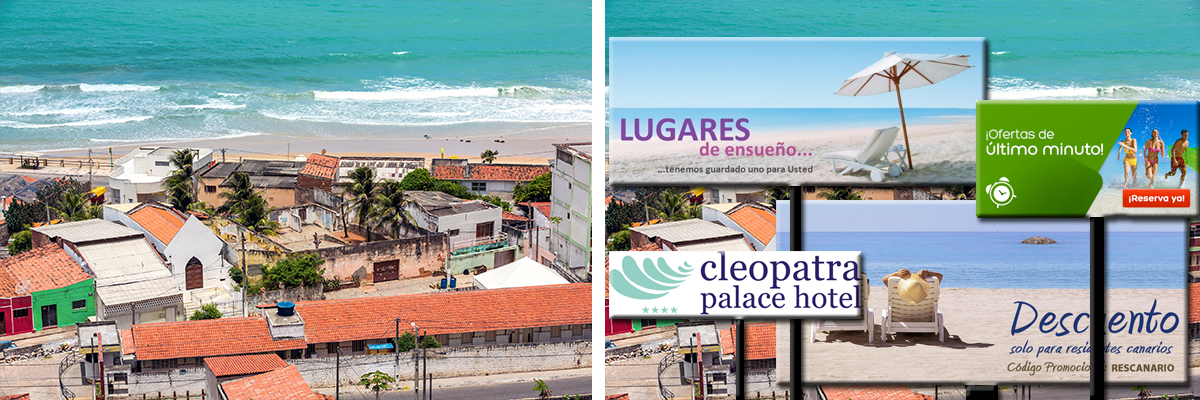 Ejemplo del Pueblo de Tlachaloyan. El panel izquierdo muestra el pueblo como era antes y el panel derecho como se convirtió después de la guerra publicitaria.