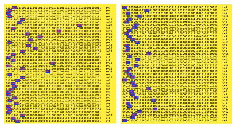 Secuencia 000 (tiempo promedio 13,62) Secuencia 011 (tiempo promedio 8.08)