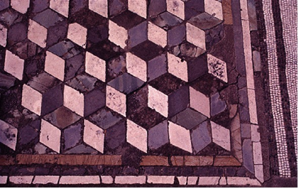 Figura 1. Mosaico descubierto en los pisos de la ciudad de Pompeya.