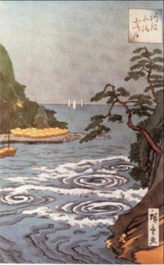 """Figura 5. """"Rápidos"""" de Hokusai Katsushika (1760-1849)."""