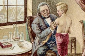 Edward Jenner, a la izquierda, pionero en el desarrollo de la vacuna contra la viruela.