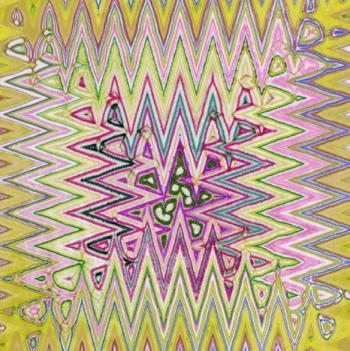 Zarape, técnica mixta, 30 x 30 cms (2014)