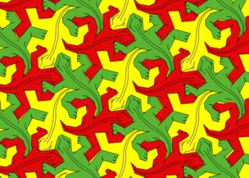 Figura 6. Teselado formado por polígonos en forma de lagartija.