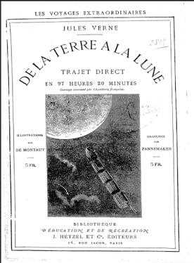 """Figura 1. Portada """"De la Tierra a la Luna"""" por J. Verne"""