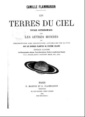 """Figura 2. """"Les terres du ciel"""" de C. Flammarion (1884)"""