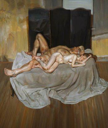 And the bridegroom/Óleo sobre tela/231 x 196 cms/1993/Lucien Freud