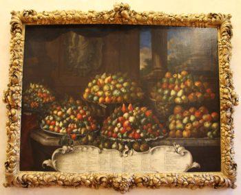 Bartolomeo Bimbi, Pere, 1699. Olio su tela. Cornice di Victor Van Crosten. Villa medicea di Poggio a Caiano – MIBAC. Fonte Wikicommons