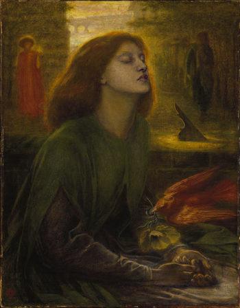 Fotografía 7.- Beata Beatrix (Dante Rossetti, c. 1863, 1864-1870). Óleo sobre lienzo depositado en la Tate Britain. Fuente: Wikipedia (http://en.wikipedia.org/wiki/File:Dante_Gabriel_Rossetti_-_Beata_Beatrix,_1864-1870.jpg).