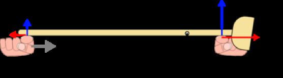Figura 5: fuerzas que actúan sobre la escoba.