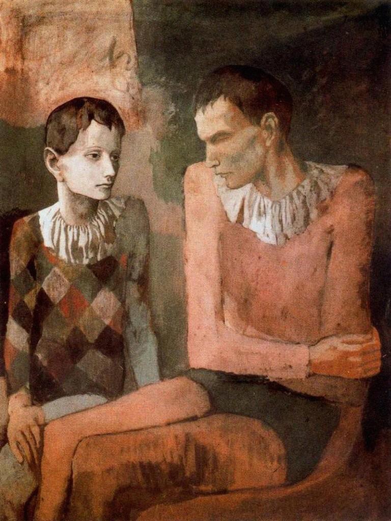 Picasso - Acróbata y joven arlequín (etapa rosa)