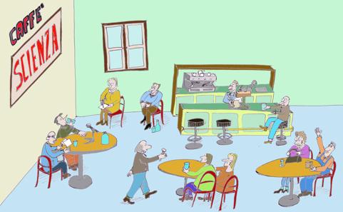 """Figura 2. Imagen de la película """"Cómo nace un café de la ciencia"""" [14]"""