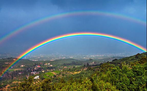 Figura 1. Doble arco iris [1].