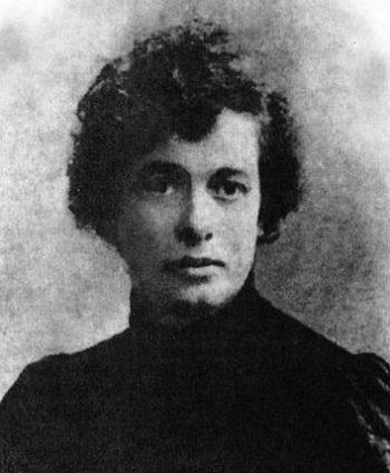 Adela Zamudio a principios del siglo XX.